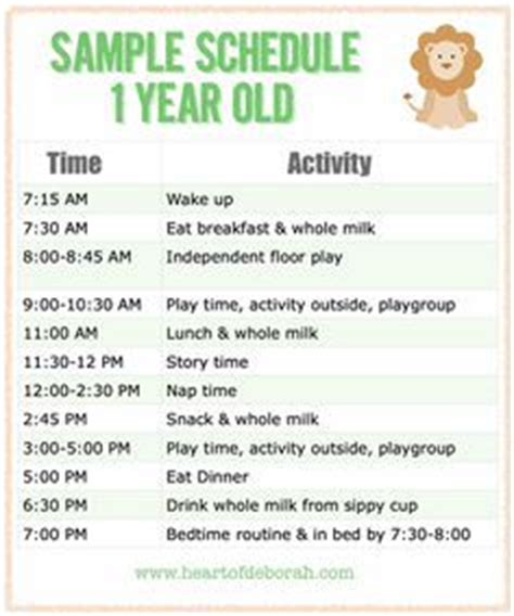 toddler daily schedule baby schedule infant