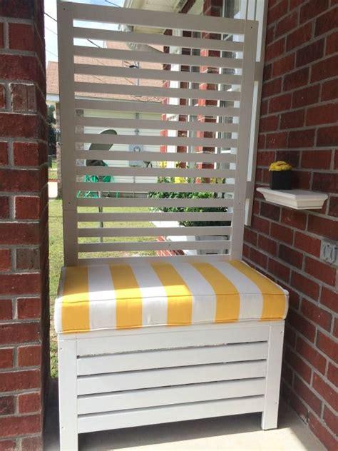 outdoor privacy screen bench ikea applaro  painted