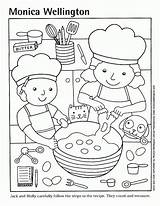 Coloring Pizza Cooking Pages Printable Kitchen Sheets Cook Clipart Preschool Google Popular sketch template