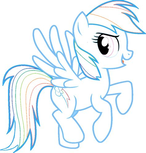 rainbow dash coloring page learn free worksheets for kid rainbow dash