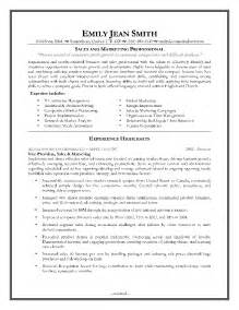 marketing resume sles 2013 sales marketing resume sales marketing resume format resume sle retail sales manager resume
