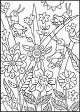 Coloring Pages Sheets Bugs Summer Adult Spring Doverpublications Dover Publications Insect Colouring Printable Books Spark Crafts Bug Welcome Adults Christianbook sketch template