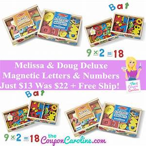 melissa doug magnetic letters numbers bundle just 13 With melissa doug magnetic letters