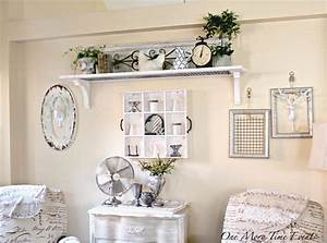 How to decorate a large wall farmhouse style for Best brand of paint for kitchen cabinets with mirrored wall art decor