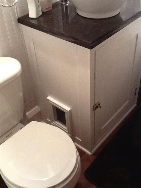 Modification Suprafit Box by Modified Bathroom Vanity To Incorporate Cat S Litter Box