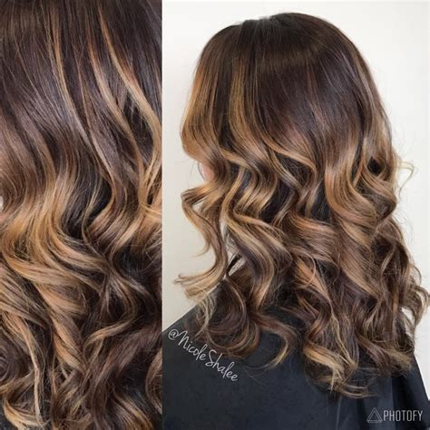 Warm Black Hair Dye by Hair Ombr 233 Balayage Caramel Hair Curled Hair