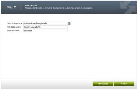 tkentico base template importing sle web sites from kentico marketplace