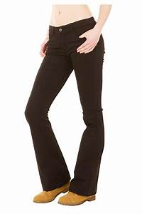 Glamour Womens Black Hipster Bootcut Flared Jeans | Low Rise Bootcut Flared Jeans Outfitter