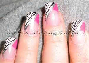Love nailart hot pink zebra nails
