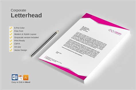 31+ Word Letterhead Templates
