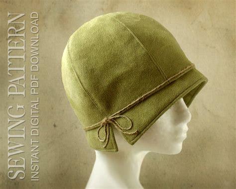 sewing pattern lois  twenties cloche fabric hat