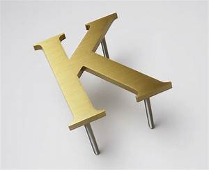 letter k brushed bronze a sign makers blog With brass alphabet letters