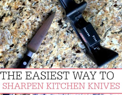 best way to sharpen kitchen knives the easiest way to sharpen kitchen knives frugally blonde
