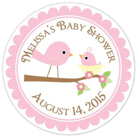 Personalized Stickers For Baby Shower - baby birds baby shower labels and baby bird custom baby