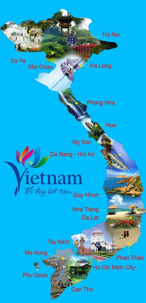 vietnam tourism map travelling   world