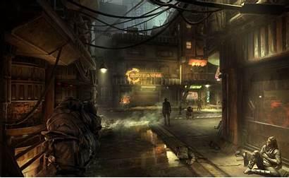 Wars Sci Futuristic Street Fi Cities Slums
