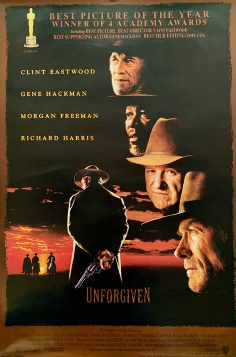 unforgiven movie poster clint eastwood western