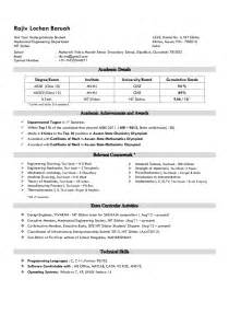 resume template sle student contract mechanical student resume