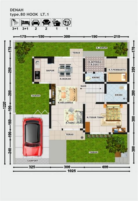 denah perumahan villa bougenville rumahjogja indonesia