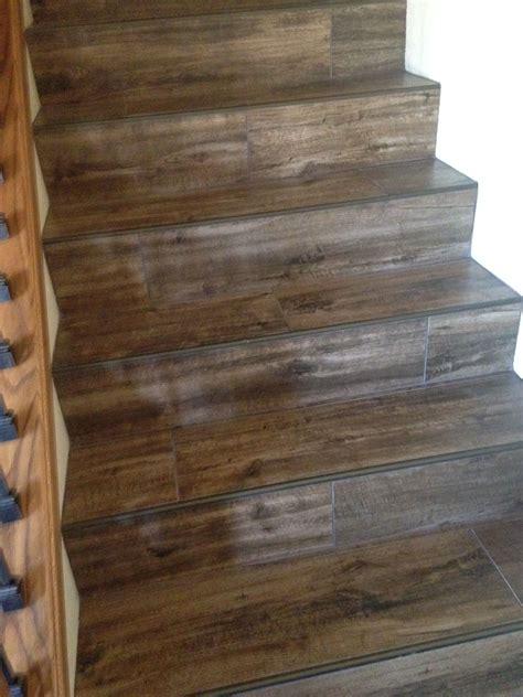 wood  tile stairs flooring   tile stairs