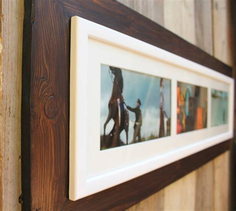 Reclaimed Wooden Landscape Aperture Photo Frame Moea Design