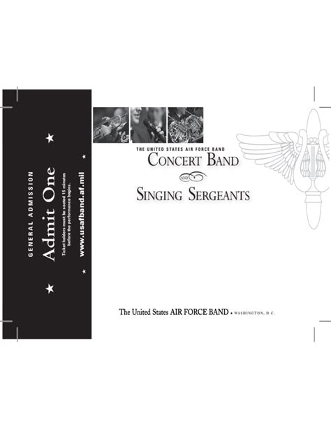 concert band ticket template