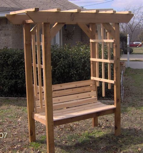 Arbor With Bench by Brand New Cedar Garden Arbor With Park Style Bench Free