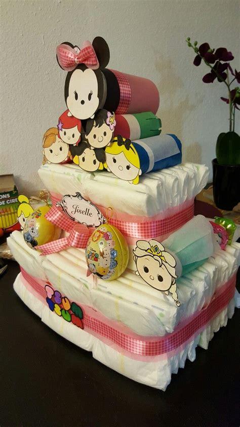 tsum tsum diaper cake tsum tsums   rolled