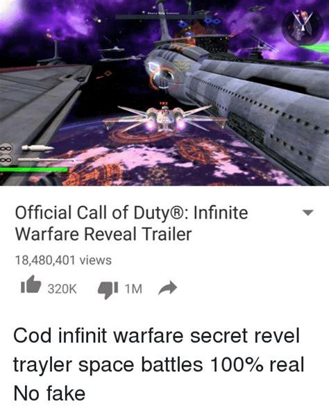 Infinite Warfare Memes - official call of duty 174 infinite warfare reveal trailer 18480401 views 320k i 1m cod infinit