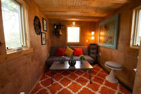 Joy Tiny House on Wheels Rental at Austin's Original Tiny