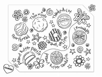 Scout Coloring Cookies Pages Cookie Daisy Sheet