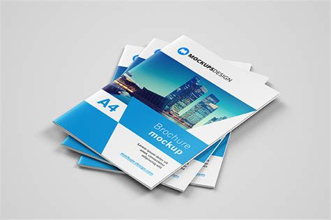 The latest source of free magazine mockup psd templates for your digital projects. Download This Free Brochure Mockup in PSD - Designhooks