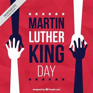 Abstract martin luther king day background with hands ...