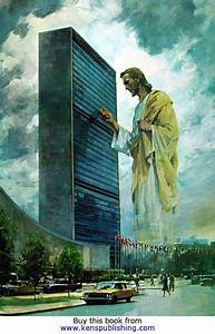 World Peace Designs Jesus Knocking On The Outside Of The United Nations