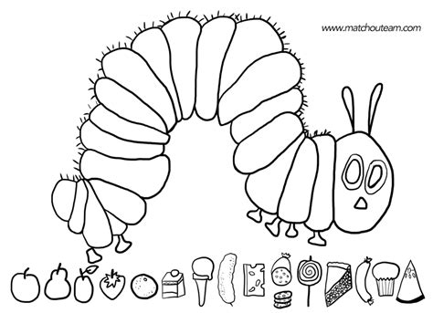 coloring pages   hungry caterpillar eric