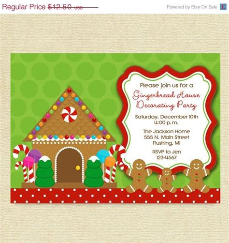 gingerbread house decorating party or cookie exchange