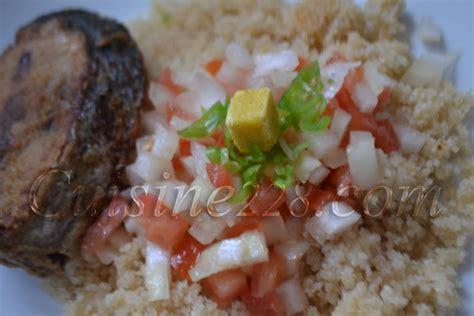 cuisine thon recette du garba attieke thon ivorian cuisine