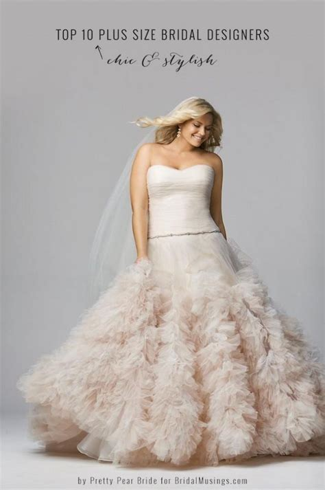 best wedding dress designer top 10 plus size wedding dress designers by pretty pear
