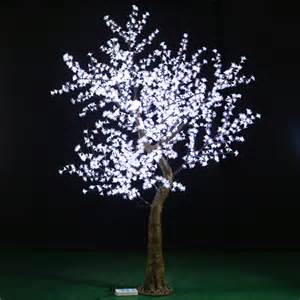 wholesale white cherry blossom led tree for wedding desktop centerpiece decoration lighted