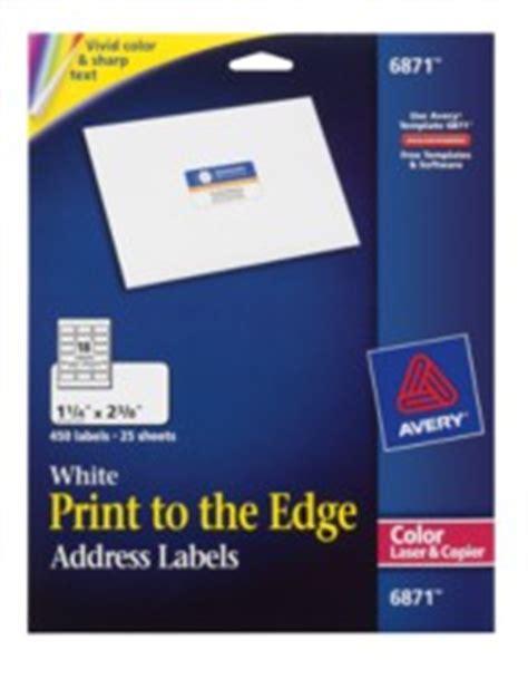avery print   edge address labels