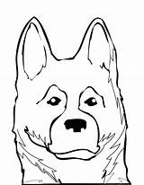 Shepherd Coloring German Dog Puppy Face Drawing Shepherds Dogs Animals Drawings Breeds Getdrawings Adults Animal Popular Clipartmag Coloringhome sketch template