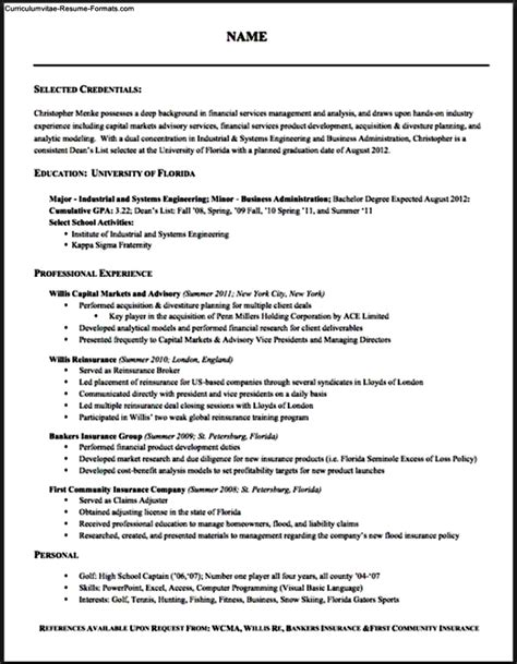Proper Resume Format by Proper Resume Template Free Sles Exles Format
