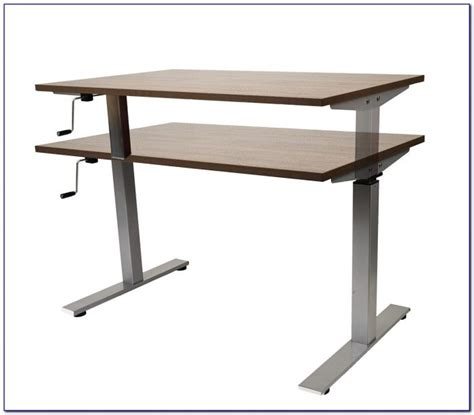 diy height adjustable desk diy crank height adjustable desk desk home design