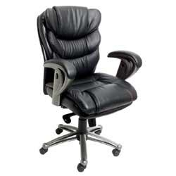 realspace talega mid back leather chair 43 34 h x 26 14 w