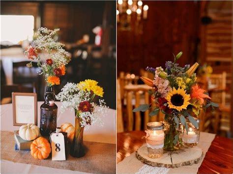 Wedding Ideas For Fall : 45 Fall & Autumn Wedding Centerpieces Ideas
