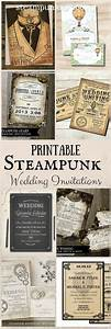 printable steampunk wedding invitations pinterest With free printable steampunk wedding invitations