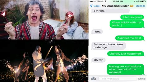 song lyrics text prank on my sister i just had sex by the lonely island ft akon youtube