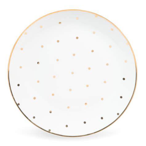 maison du monde assiette assiette plate en porcelaine blanche pois dor 233 s d 27 cm assiettes