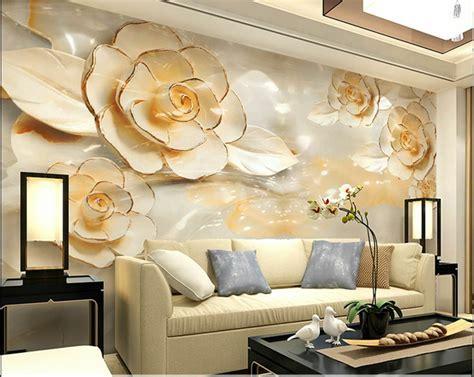 wallpaper bedroom mural roll modern luxury flower