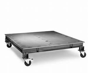 Table Basse En Acier : table basse en acier wheely l1100 x l1100 x h250 tables tables basses citysigner ~ Melissatoandfro.com Idées de Décoration